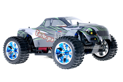 Himoto Brushless Truck Green Carbon 2.4GHz AANBIEDING!